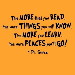 Dr. Suess Reading Quote