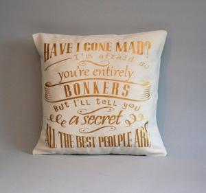 bookish cushion